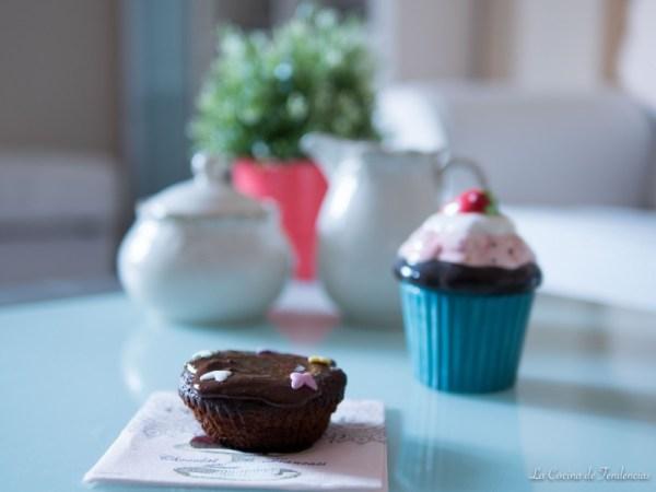 Magdalenas caseras con chocolate