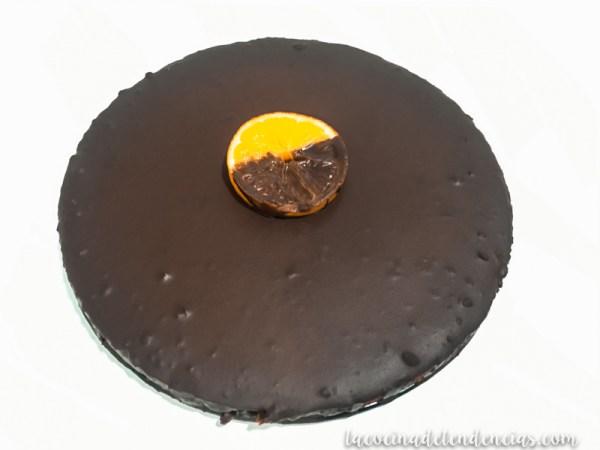 tarta de naranja y chocolate