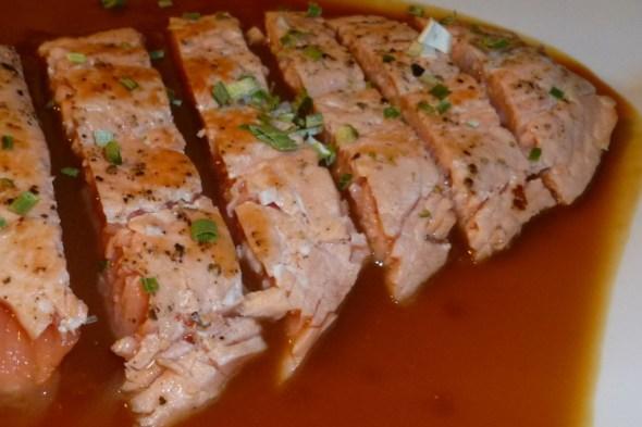 salmon con miso den