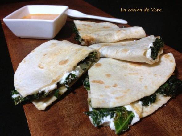 quesadillas con kale