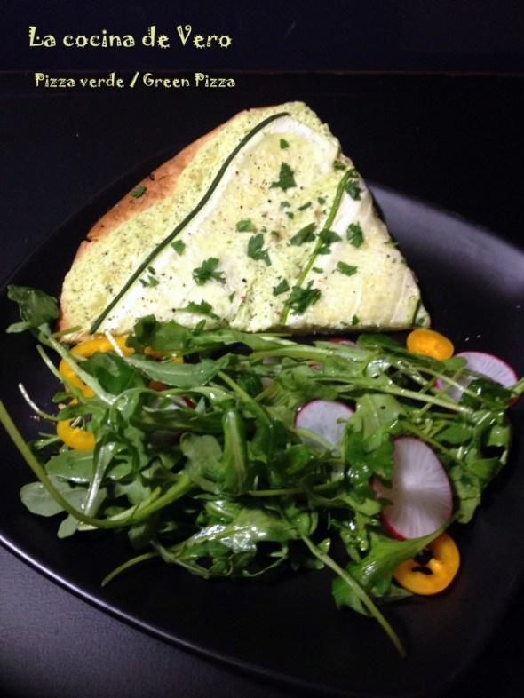 Pizza verde y ensalada - La cocina de Vero