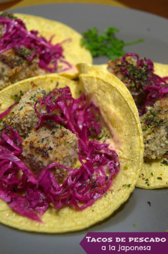 Tacos de pescado a la japonesa - La cocina de Vero