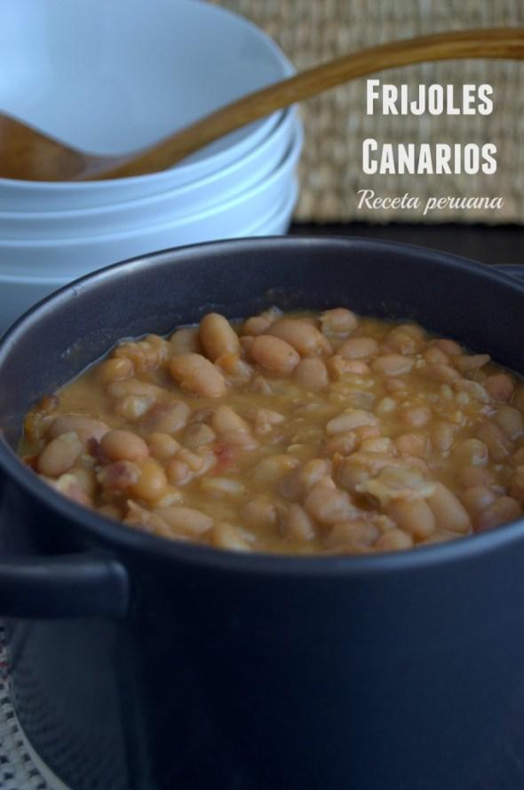 Frijoles canarios #ComidaPeruana