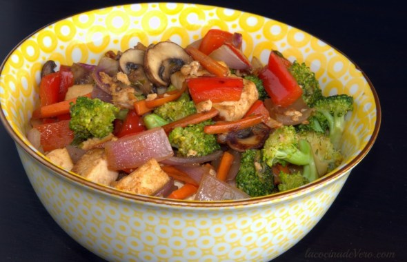 Stir-Fry de tofu y vegetales 1