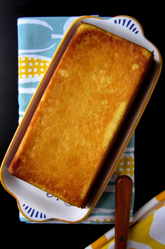 Torta de elote veracruzana