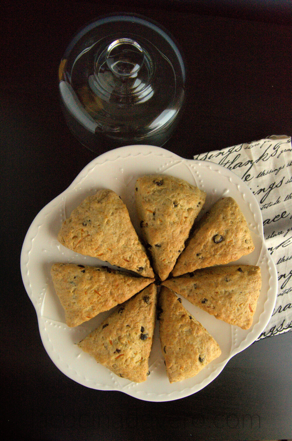 Scones de currants y naranja