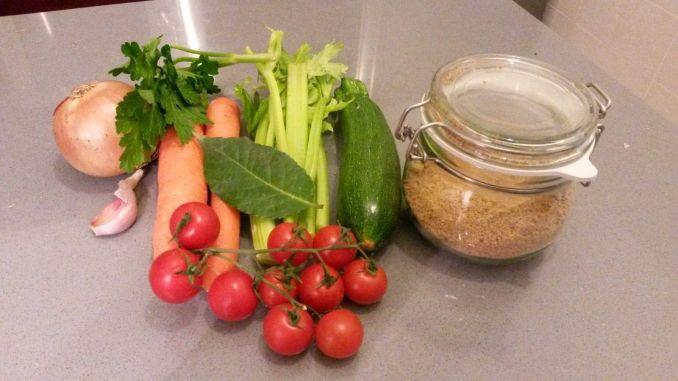 Pastillas de caldo de verduras