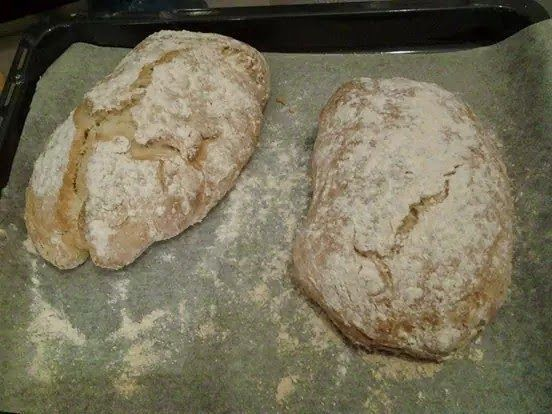 Pan chapata crujiente - Ciabatta croccante