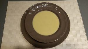 crema puerros hongos jamon