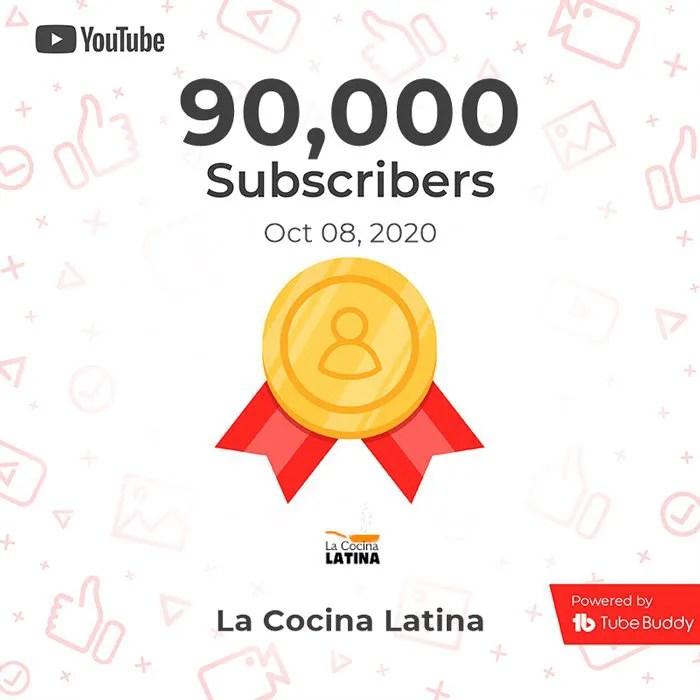 90.000 suscriptores en nuestro Canal de YouTube
