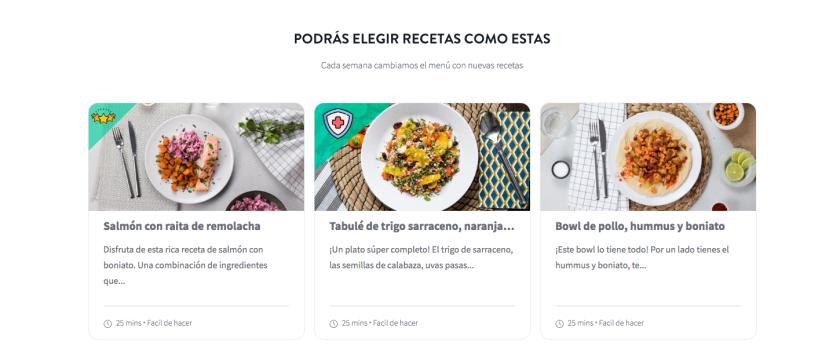 Foodinthebox: recetas nutricionalmente completas y equilibradas