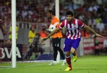 Diego Costa celebra un gol marcado al Sevilla en la Copa del Rey |Imagen: RTVE
