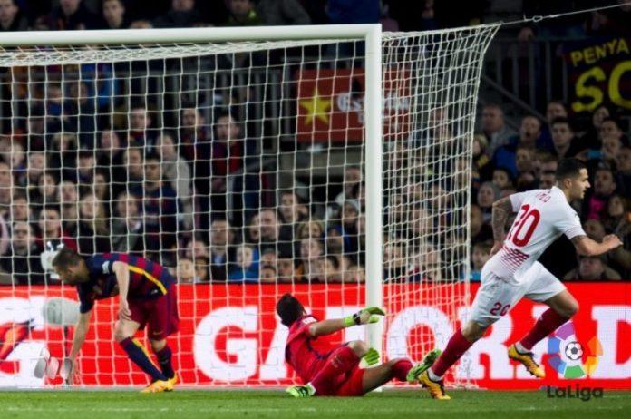 Vitolo anota el primer gol del partido | Imagen: LFP