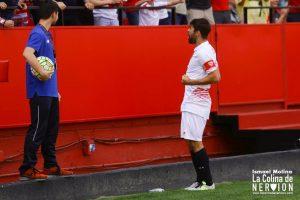 Coke celebrando un gol en el derbi
