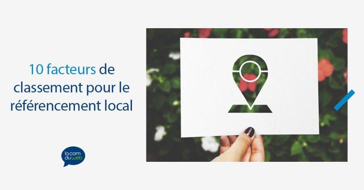 10 facteurs de classement pour le référencement local
