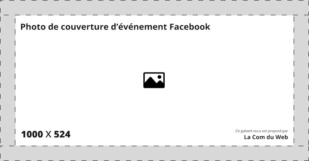 Dimension photo de couverture d'évenement Facebook