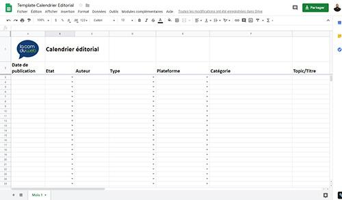 Calendrier Editorial Modele.Modele De Calendrier Editorial La Com Du Web