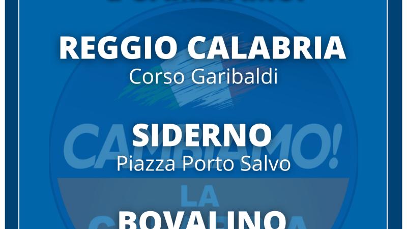 GIORNATE NAZIONALI di ADESIONE a CAMBIAMO! Nelle piazze di Reggio Calabria, Siderno, Bovalino e Bianco