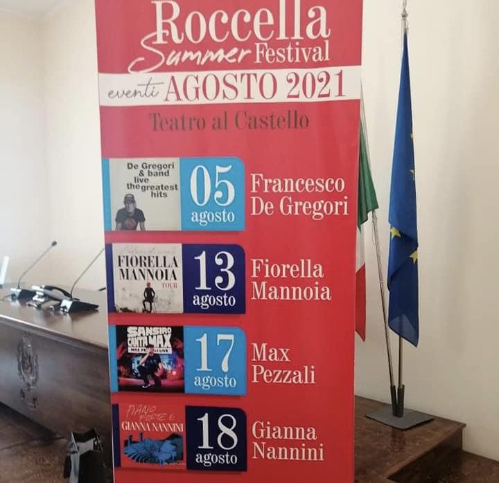 """PRESENTATO IL """"ROCCELLA SUMMER FESTIVAL"""". AD AGOSTO DE GREGORI, MANNOIA, PEZZALI e NANNINI"""
