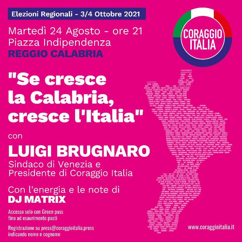 Anghelone: La presenza di Brugnaro avvia la campagna elettorale in Calabria