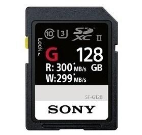 Un card de mare viteza Sony SF-G 28GB, Class10