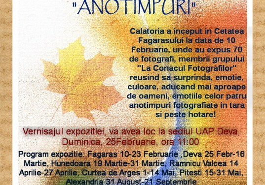"""EXPOZITIA ITINERANTA DE FOTOGRAFIE  """"ANOTIMPURI"""""""