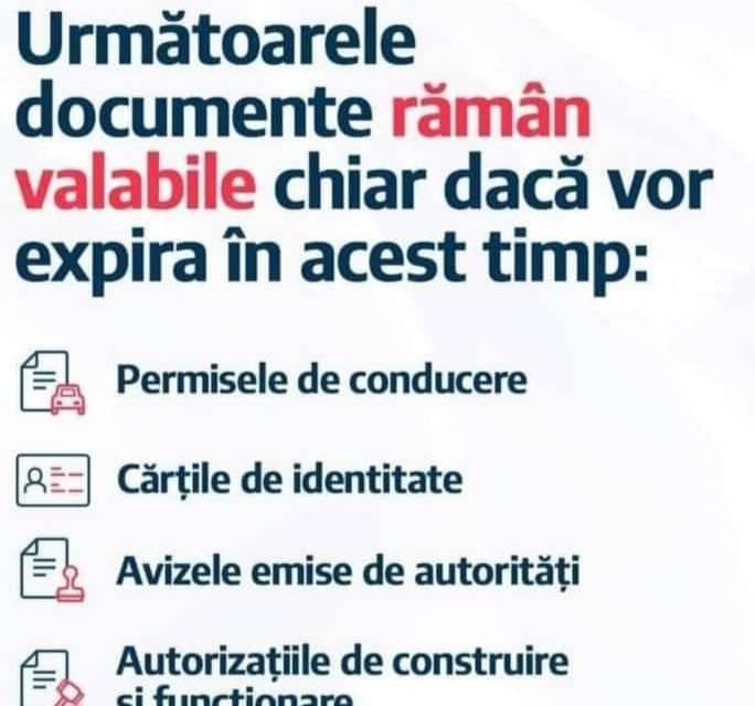 Documentele care expiră pe perioada stării de urgență vor fi valabile până în 15 aprilie.