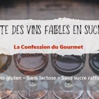 Liste des vins faibles en sucre
