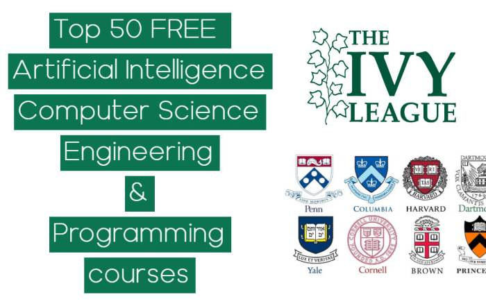 Ivy League Universities Free Courses