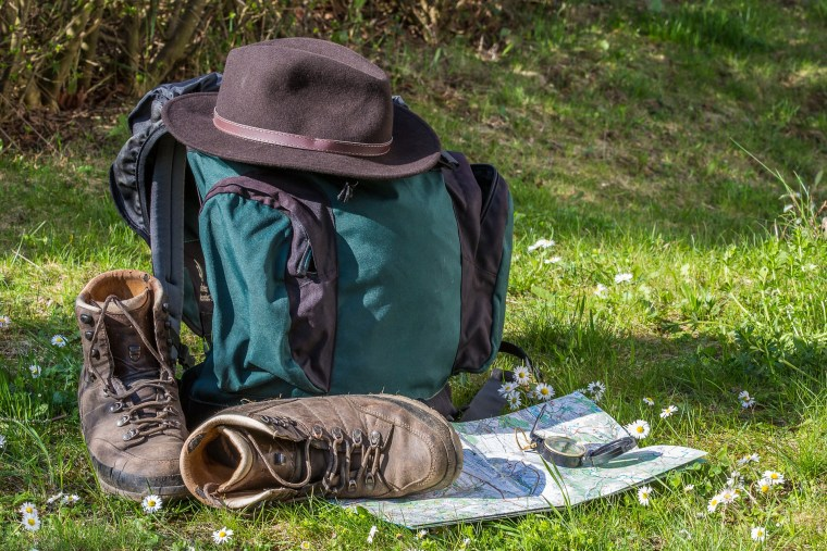 hiking gear, backpack, hiking hat, boots, map, compass, hiking equipment, marketing strategy