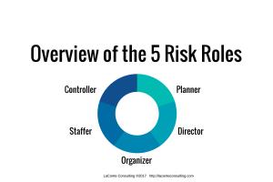 risk roles, executive roles, organizational risk, planner, director, organizer, staffer, controller