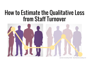 estimate, quality, qualitative, qualitative loss, risk management, staff turnover, layoffs, resignation, strategic risk