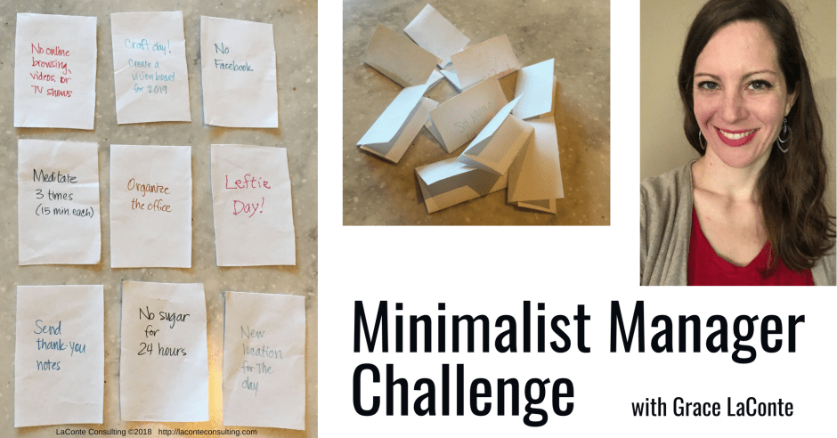 minimalist manager, the minimalist manager, minimalist challenge, management, leadership, strategic planning, strategic risk