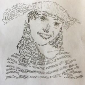 word art, art project, self portrait, self analysis, creative drawing