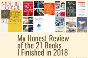honest review, 21 books, 2018 book reviews, Grace LaConte, Grace LaConte review, book, book review, strategic risk