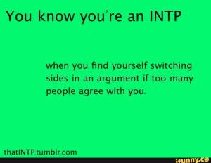 INTP switching sides