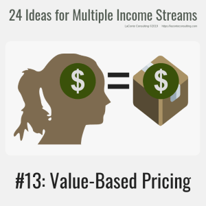 multiple income, multiple income streams, value-based pricing, value-based, value pricing, profit, profit margins, income streams, profit streams, strategic risk, strategic marketing, marketing
