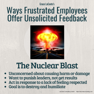 nuclear blast, nuclear explosion, frustrated employees, angry employee, injustice, workplace, toxicity, conflict, conflict resolution, strategic risk