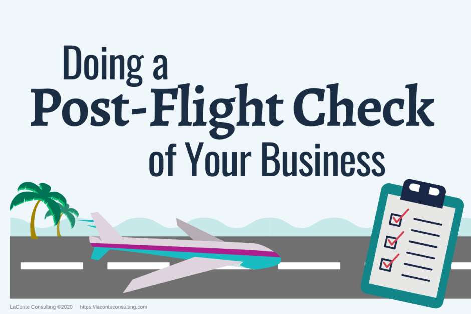 post-flight check, business check, business checklist, risk evaluation, strategic risk