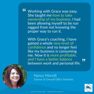 customer testimonial, Nancy Morelli, Overall Office Solutions