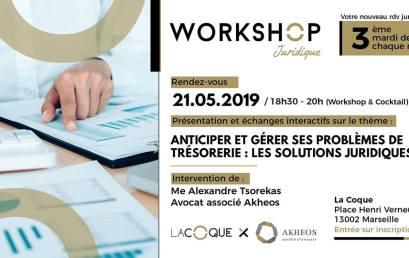 Workshop Juridique : Comment gérer votre trésorerie