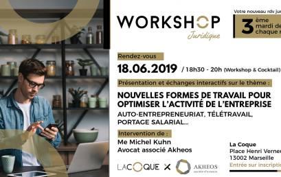 Workshop juridique Akheos nouvelle forme de travail