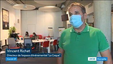 [#Interview France 3 Région] Le pass sanitaire et les employés de La Coque   30.08.2021