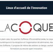 La Coque référencée comme lieu d'innovation par la Métropole Aix-Marseille Provence