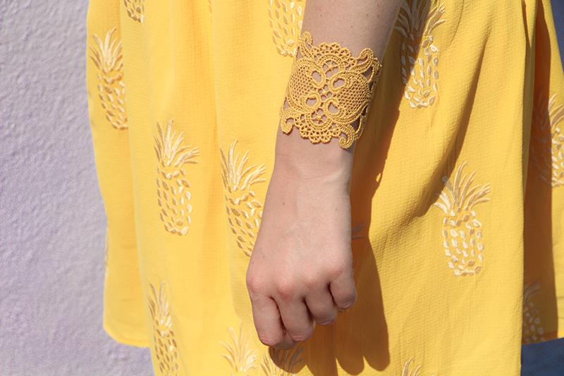 burano bracelet dentelle jaune