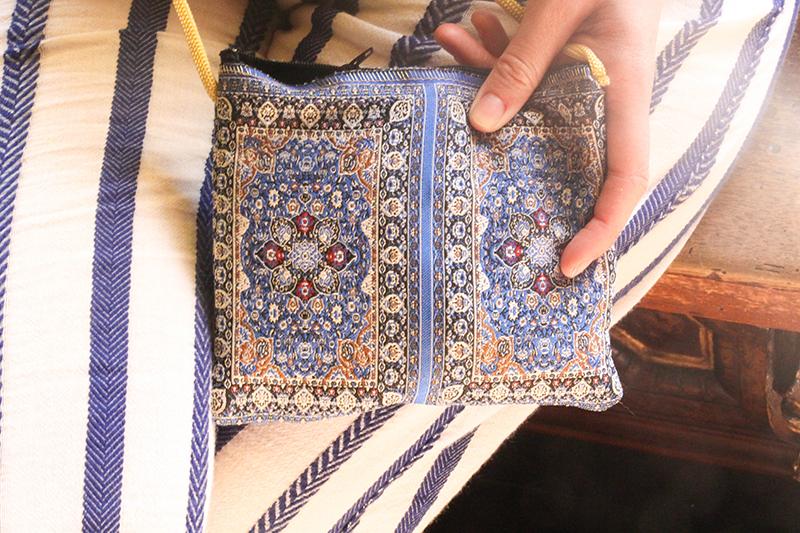 sac à main tissu à motif