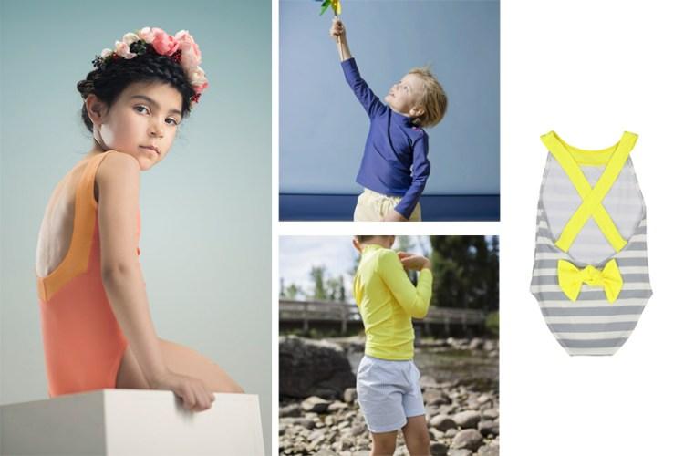 maillots de bain éthiques et écologiques pour enfants canopea