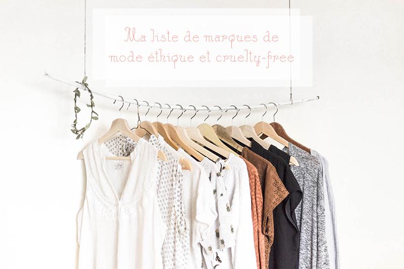 Liste de marques de mode éthiques et cruelty free La