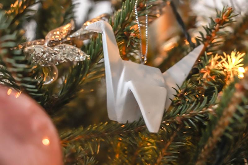 décoration sapin de noël origami