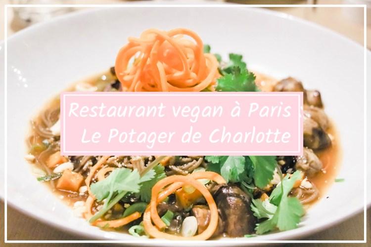 potager de charlotte restaurant vegan paris